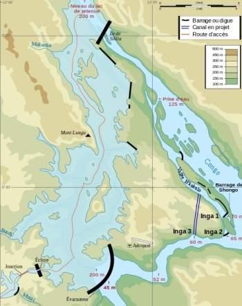 O projeto, conhecido como Grande Inga, usará a água em vários pontos do Rio Congo, sem precisar fazer represas.