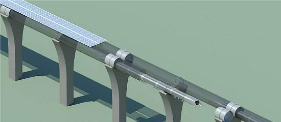 Os custos operacionais baixos são devidos em parte à utilização da energia solar, captada por painéis colocados na parte superior dos tubos. [Imagem: Teslamotors]