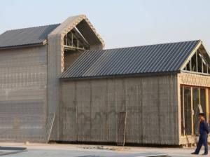 Casa feita em impressora 3D pela Winsun: material usado para construir as paredes é reciclado de construções antigas