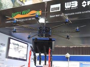 A companhia Desert Wolf fez demonstrações do drone na África do Sul em maio