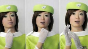 A empresa japonesa Kokoro criou um robô-recepcionista para escritórios
