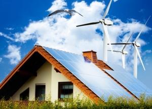 Painel casa solar